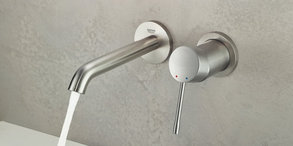 Grohe Essence Wall-Mounted Washbasin Taps