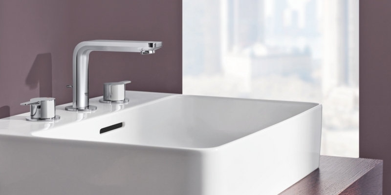 Grohe Lineare 3-Holes Washbasin Taps
